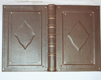 A4 Sketch book, journal, spell book bound in leather