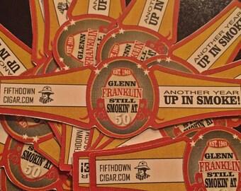 Custom Birthday Cigar Labels (Cigar Bands)