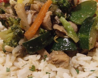 Chicken & Vegetable Stir Fry DIGITAL DOWNLOAD