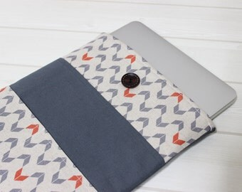 Macbook Air sleeve, 12 laptop case, 11 laptop sleeve, New Macbook case, Linen laptop case, minimal laptop case, unique Macbook case