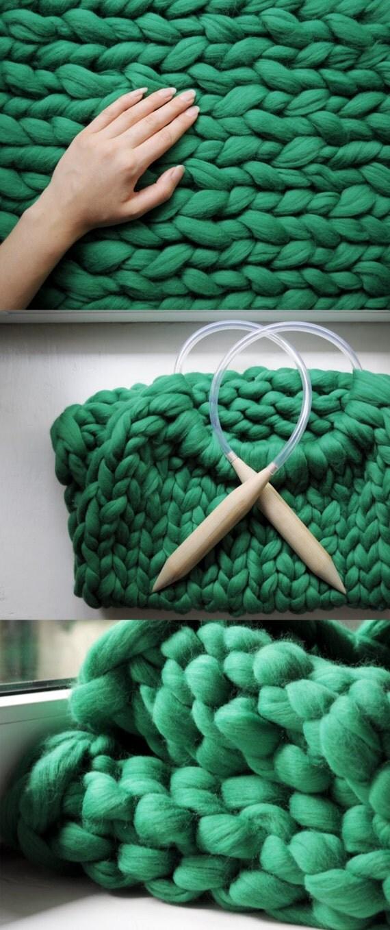 Knitting Diy Kits : Diy kit blanket cm inch stitch giant by ohhio