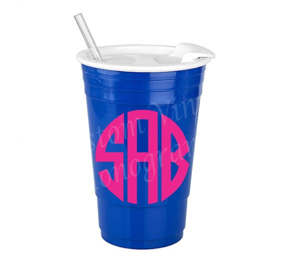 sale monogrammed 30 oz royal blue big gulp insulated solo