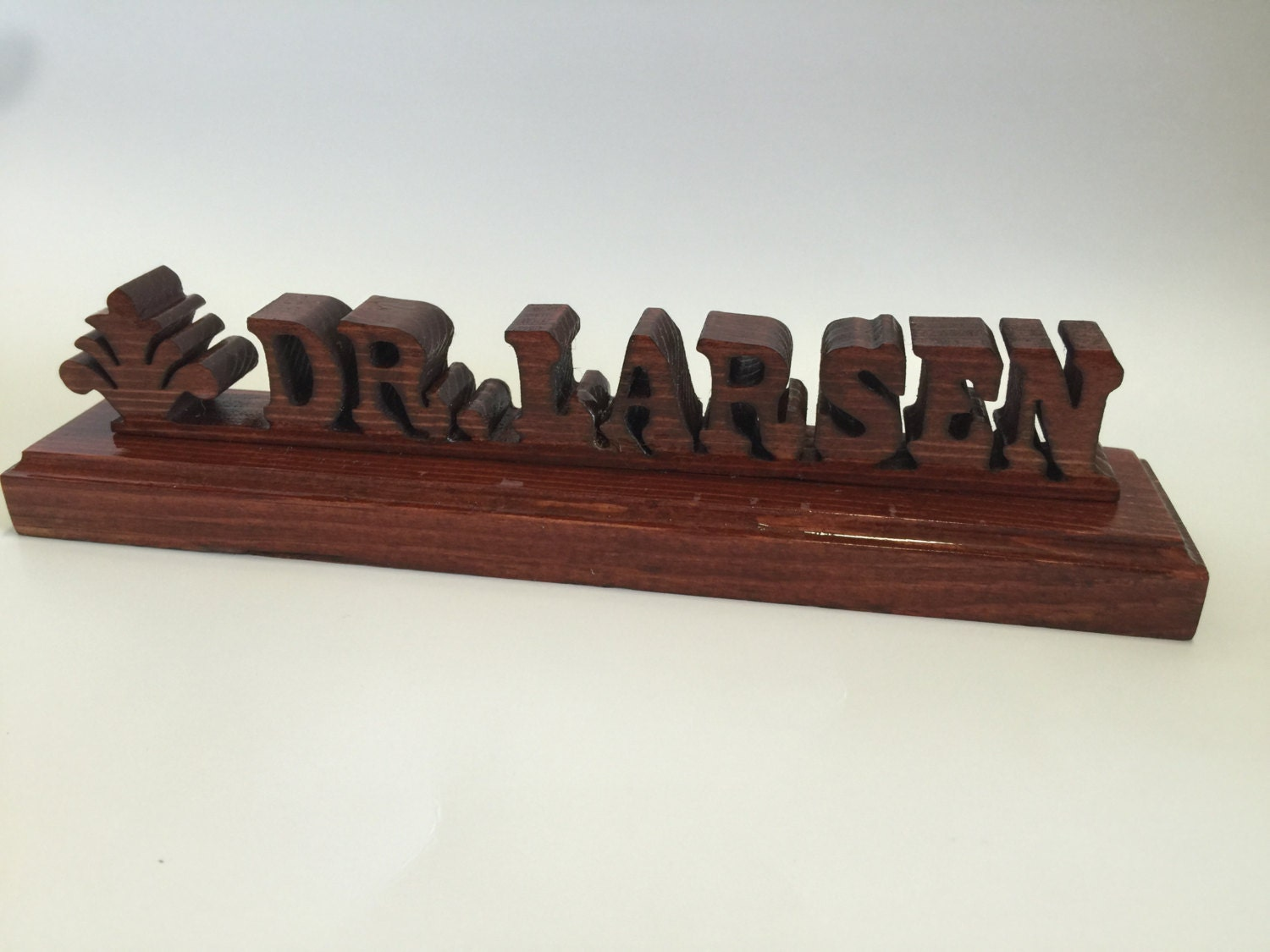 custom wood desk name plate pine and cedar by memorabletimbers