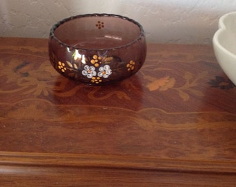 Small Antique Purple Candy Dish or Bowl