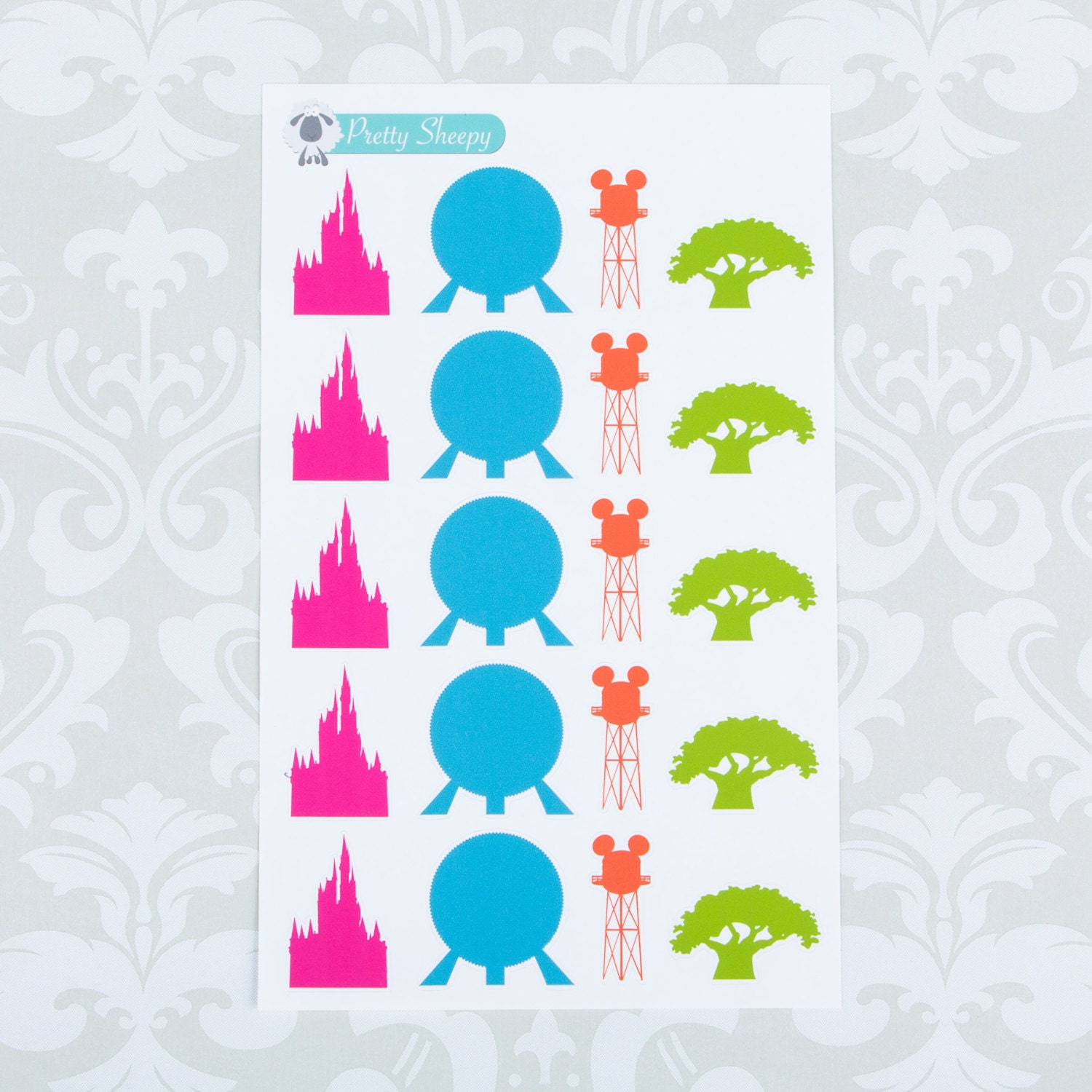D120 // Walt Disney World Park Icons Stickers by PrettySheepy