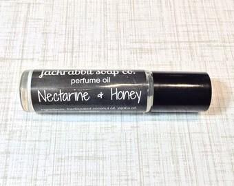 Nectarine & Honey Perfume Oil, Honey Perfume, Roll On Perfume, Nectarine Perfume Oil, Women's Perfume, Jasmine Perfume, Perfume Wedding Gift