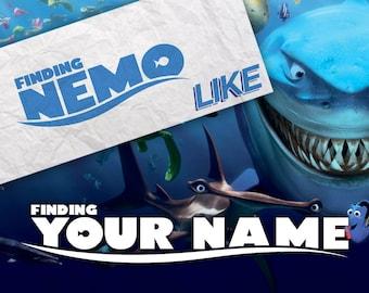 Personalized Nemo Poster - Logo Like