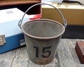 15 Vintage Bucket, Ice Bucket. Drink Cooler, Garden Decor, Planter, W Initial, W Decor, Industrial Decor, Flower Bucket, Man Gift