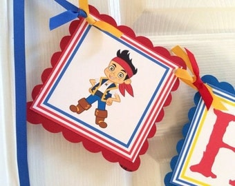 Jake and the Neverland Pirates Happy Birthday Banner