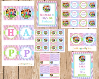Lego Friends Printable, DIY, Party Package