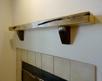 Fireplace Mantle. Mantle Shelf. Reclaimed Wood. Furniture. Shelves. Wood Mantle. Floating Shelf. Wood Shelf.
