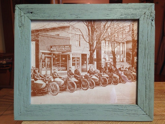 Reclaimed Barn Wood Cycle Shop Picture Frame