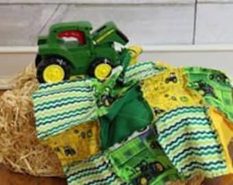 Mini Rag Quilt Squares Tractor