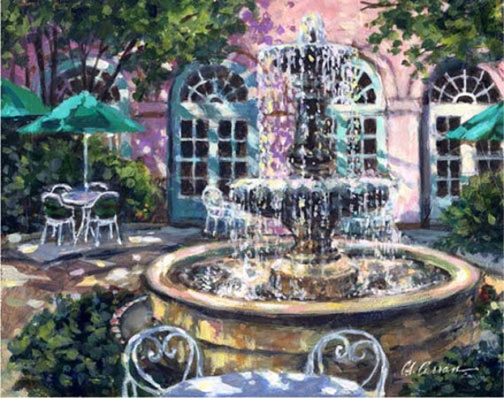 """Mills House by Carol Ann Curran - Fine Art Print - Double Matted to 11"""" x 14"""" (Image Size 8"""" x 10"""") - Charleston, South Carolina"""