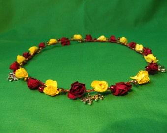Hogwarts Gryffindor inspired flower crown