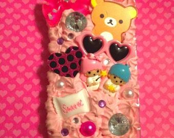 Handmade Rilakkuma Girly Decoden iPhone 5/5s Case