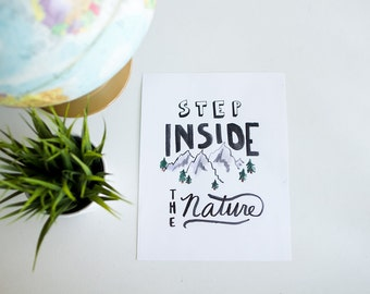 Step Inside the Nature watercolor print