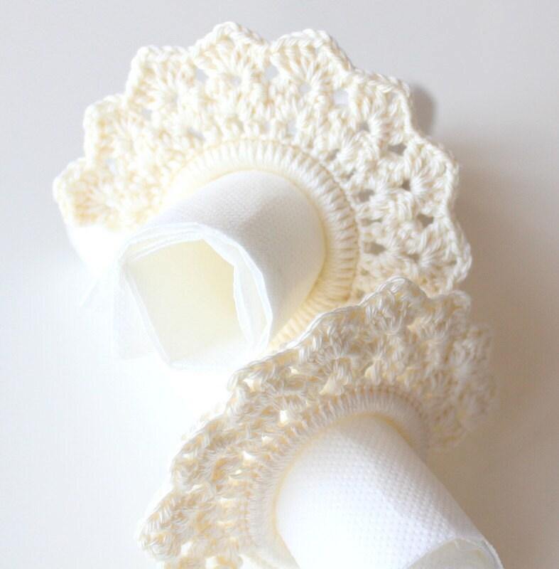 wedding napkin ring napkin holder vintage napkin ring lace