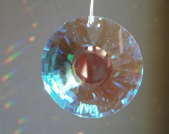Crystal suncatcher, swarovski crystal, realtor gift, hanging crystal, window decoration, housewarming gift, suncatcher for home,