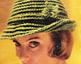 Flirty Fedora Crochet Hat Pattern PDF Instant Download