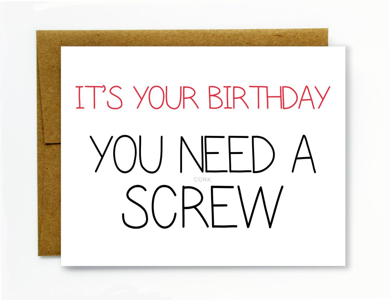 Dirty Birthday Cards gangcraftnet – Dirty Funny Birthday Cards