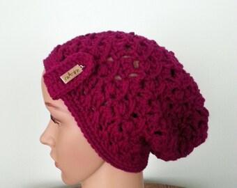 Crochet Women's Hat, Slouchy Hat, Women's Slouchy Beanie, Winter Hat , Women's Accessories