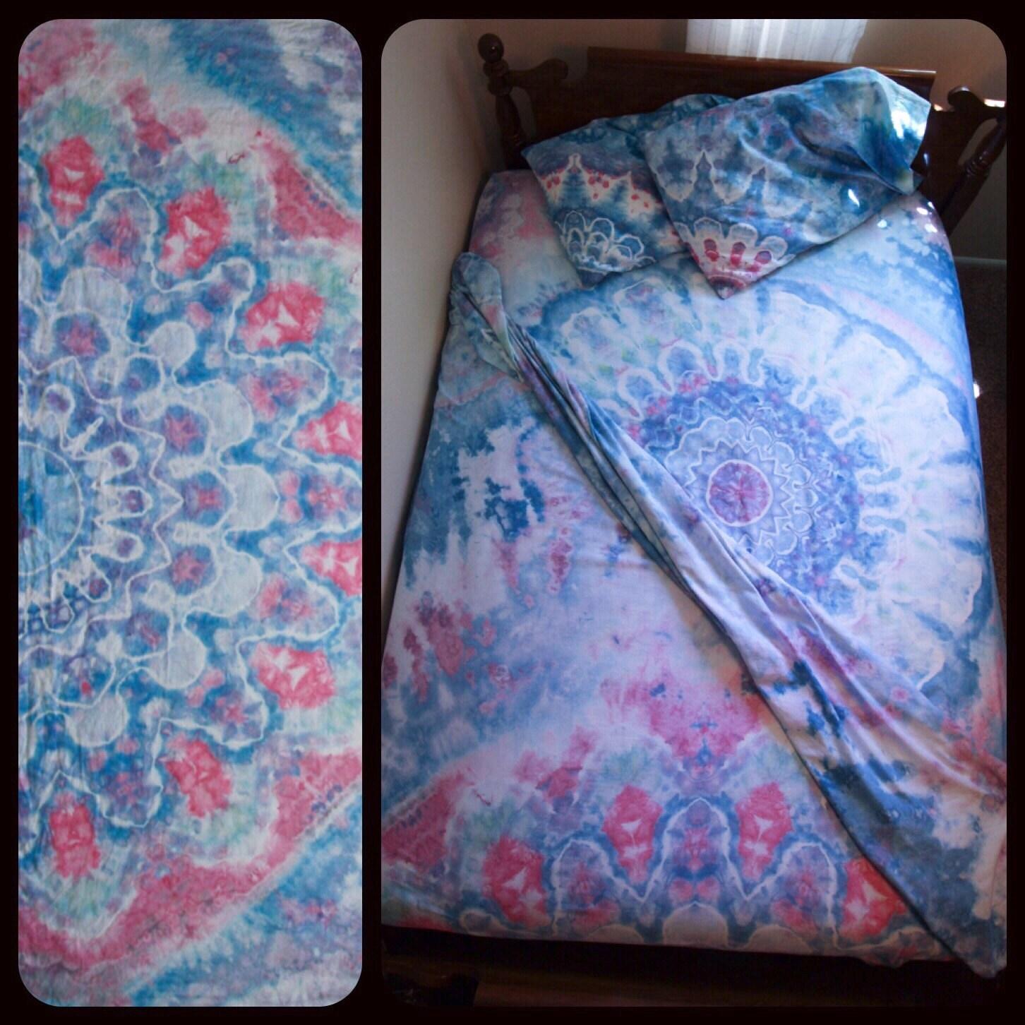 sale tie dye bedding 4 piece set by chromatickiddos on etsy