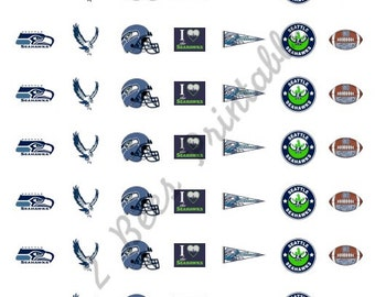 Printable Seattle Seahawks Stickers for Planners