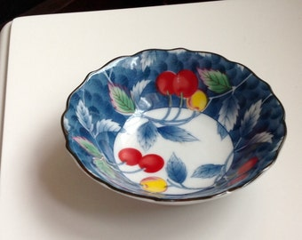 Japanese Bowl with Cherry Design