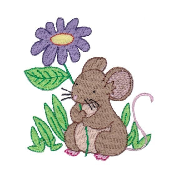 Items similar to woodland animals mouse filled stitch