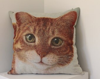 Large Tapestry Cat Cushion Cover