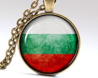 Bulgaria Necklace Bulgarian Pendant Varna Jewelry Bulgaria Flag Necklaces Pendants LG426