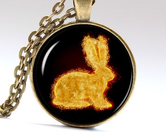 Rabbit Pendant Bunny Necklace Animal Jewelry Rabbit Amulet Rabbit Necklace Rabbit Jewelry Bunny Pendant Bunny Jewelry LG052