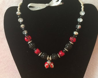 Little Ladybug girl's necklace