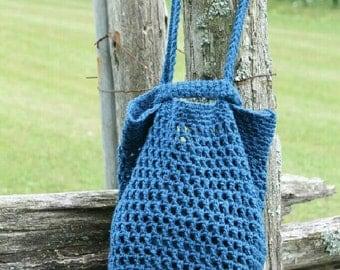 Blue market bag