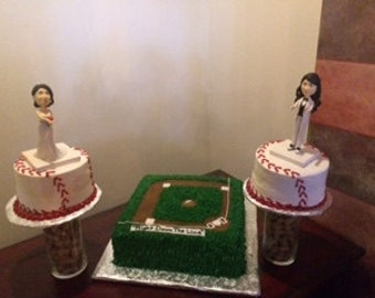 Customized Lesbian Wedding  Cake Topper