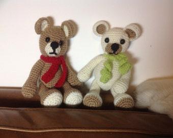Crocheted Teddy, Crocheted Bear, Teddy Bear, Alpaca Bear, Crochet Toy.