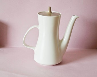 Vintage Retro coffee pot Poole England Pottery Stoneware contemporary modernist 1960's