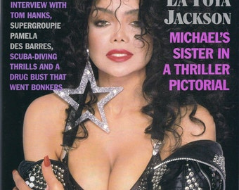 vintage Playboy, March 1989, 25 years old, LaToya Jackson on cover