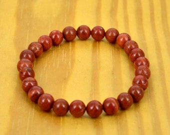 8mm Red Jasper Wrist Mala (Bracelet)