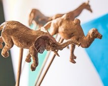 8 Gold Painted Animals on a Stick | Gold Animals Wedding