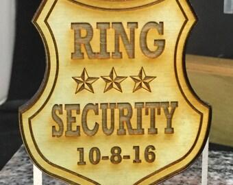 BG1001-Ring Security Badge- Ring Bearer/Boys gift
