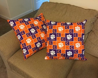 Clemson tigers throw pillows
