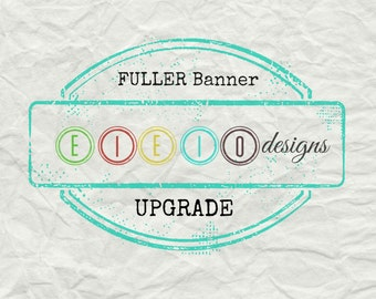 Additional Fabric for a fuller banner UPGRADE - Full or VERY FULL banner *depending on high chair tray size*