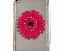 New Fashion Handmade Decorative Bling/Flower Clear Hard Plastic back Cover for iPad Mini 1 & 2 - Luxury iPad Back Cover