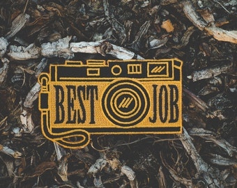 Best Job Camera Embroidered Patch