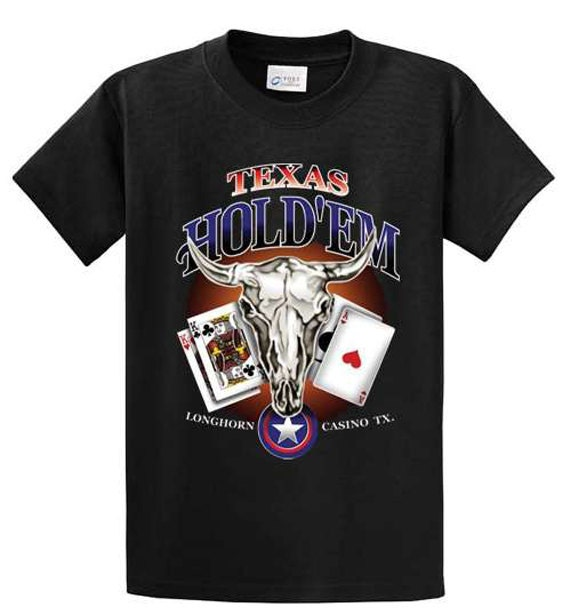 Texas hold em printed tee shirts made to order men 39 s for Made to order shirts online