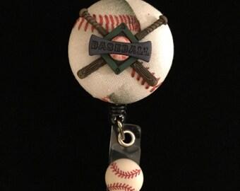 Basebal Bliss -Nurse Retractable ID Badge Reel/ RN Badge Holder/Doctor Badge Reel/Nurse Badge Holder/Nursing Student Gifts