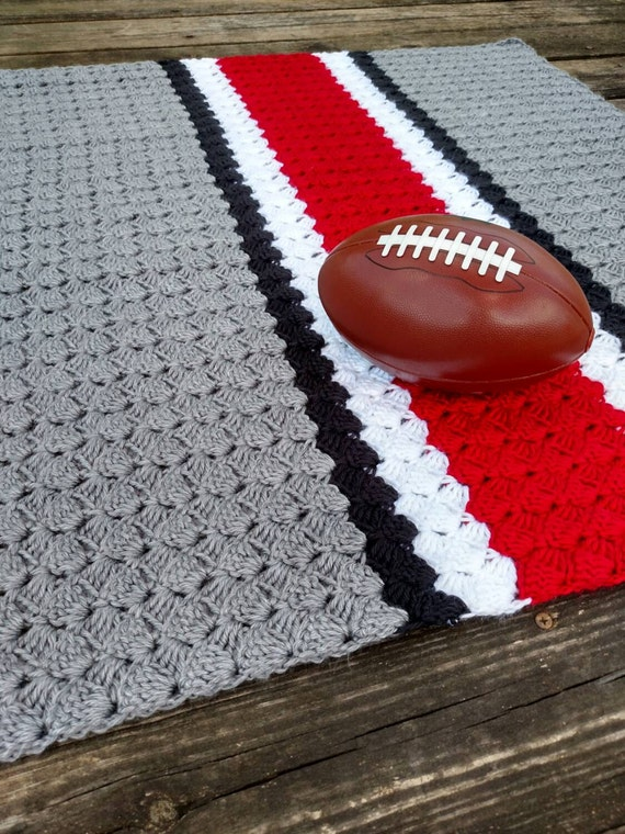 Crochet Pattern For Football Blanket : Ohio State Crochet Blanket Ohio State Afghan Ohio State