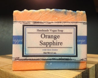 Orange Sapphire Natural Handmade Vegan Soap